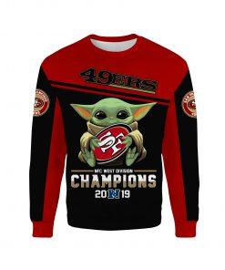 Baby yoda san francisco 49ers champions full printing sweatshirt