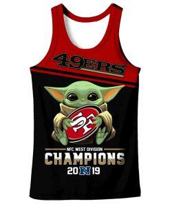 Baby yoda san francisco 49ers champions full printing tank top