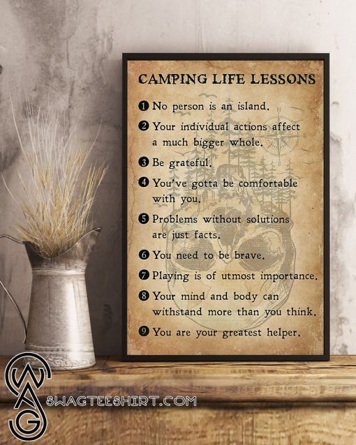 Camping life lessons poster