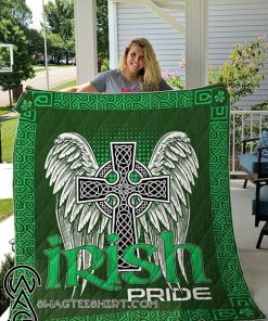 Celtic cross st patrick's day full printing blanket