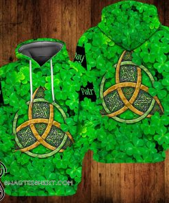 Celtic symbols saint patrick's day full printing shirt