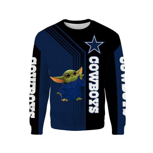 Dallas cowboys baby yoda full printing sweatshirt