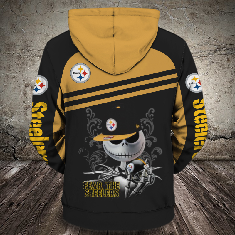 Groot hold pittsburgh steelers full printing hoodie - back 1