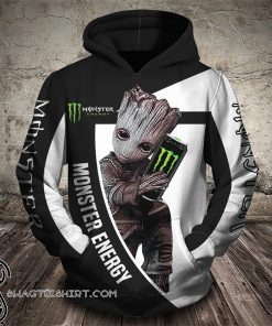 Groot hug monster energy logo full printing shirt