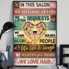Hairdresser in this salon we love hair poster