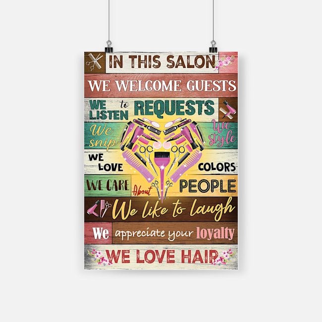Hairdresser in this salon we love hair poster 4