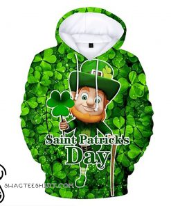 Happy saint patrick's day leprechaun all over print shirt