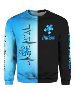Heartbeat autism awareness full printing sweatshirt