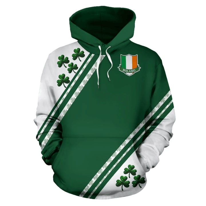 Ireland's flag saint patricks day full printing hoodie