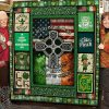 Irish blood saint patrick's day full printing quilt