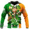 Irish flag leprechaun saint patrick's day full printing shirt