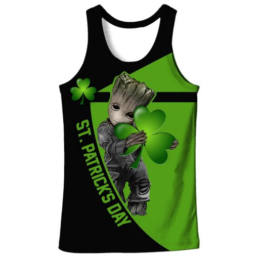 Irish saint patrick's day groot full printing tank top