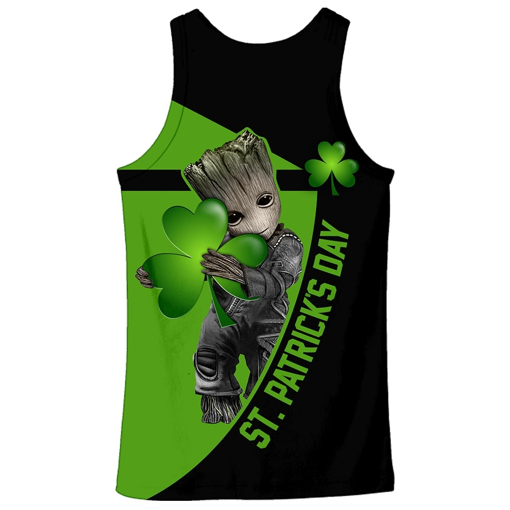Irish saint patrick's day groot full printing tank top - back