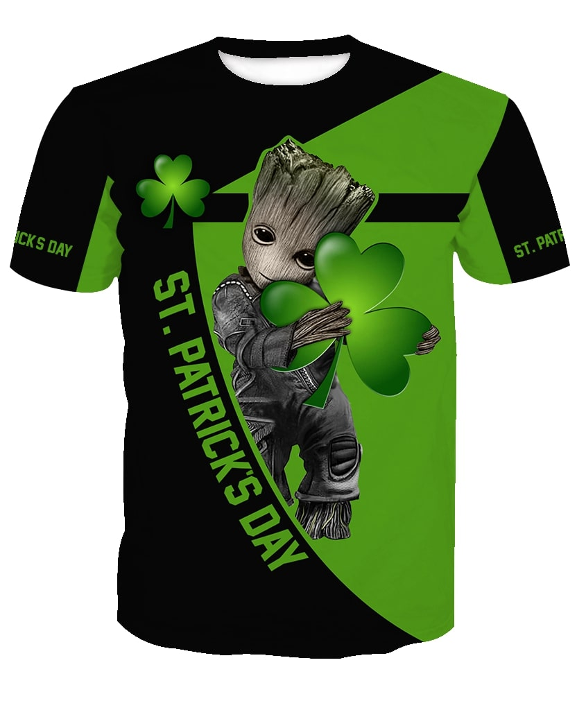 Irish saint patrick's day groot full printing tshirt