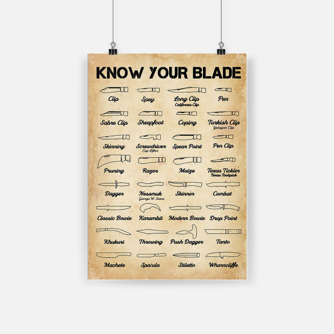 Know your blade poster 4