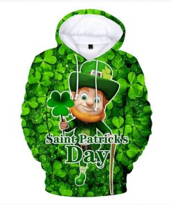 Leprechaun hold shamrock clover saint patricks day all over printed shirt