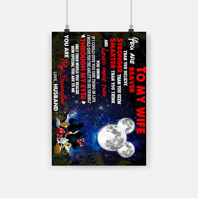Mickey minnie to my wife you are braver than you believe poster 1