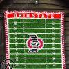 Ohio state buckeyes quilt