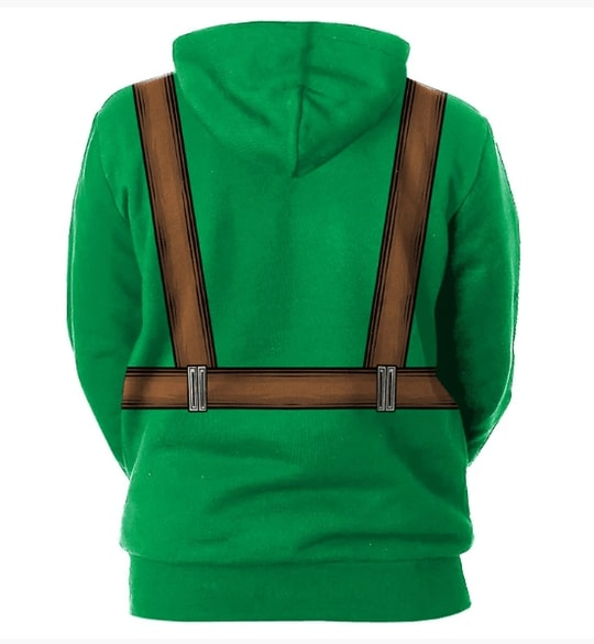 Saint patricks day leprechaun hold shamrock clover full printing hoodie - back 1