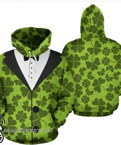 Saint patrick's day shamrock clover all over print shirt