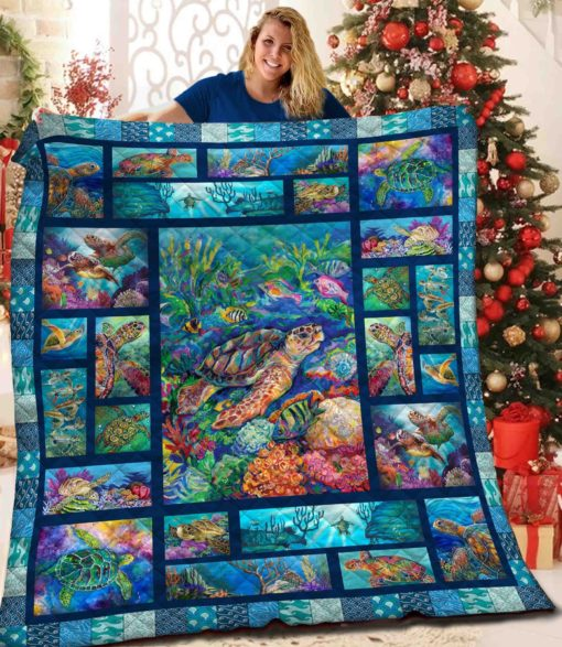 Save the sea turtle quilt 3