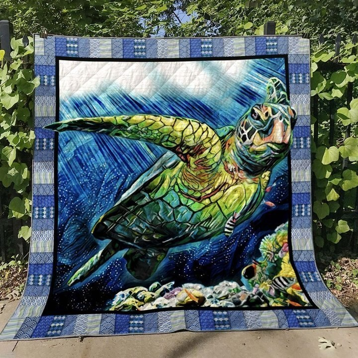 Save the sea turtles quilt 2