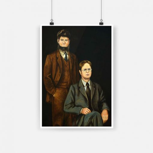 The office dwight schrute and mose schrute poster