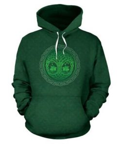 Tree of life shamrock st patrick's day full printing hoodie 1