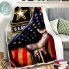 United states army american flag blanket
