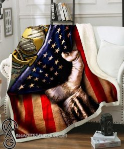 United states marine corps american flag blanket