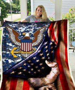United states navy american flag blanket 1