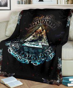 Vikings symbol all over printed premium blanket 3
