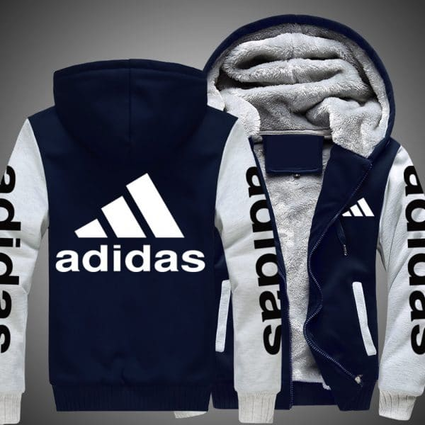 Adidas logo all over printed hoodie 1