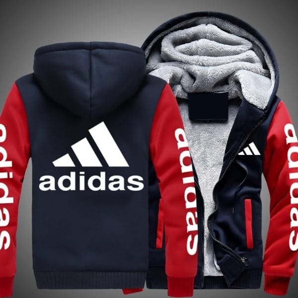 Adidas logo all over printed hoodie 2