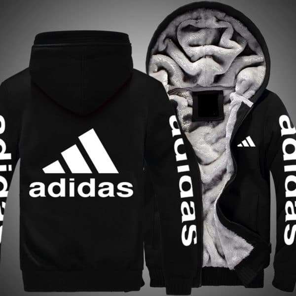 Adidas logo all over printed hoodie 4