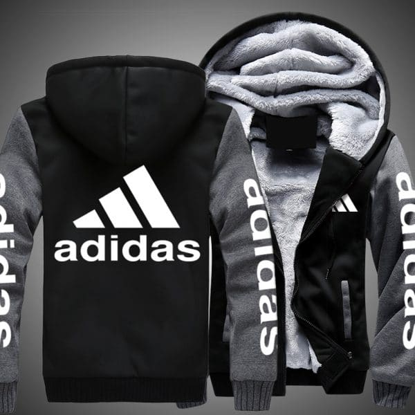 Adidas logo all over printed hoodie