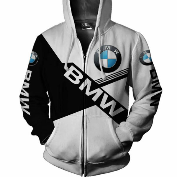 BMW car all over printed hoodie 1