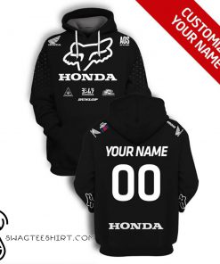 Custom fox racing honda logo full printing shirt