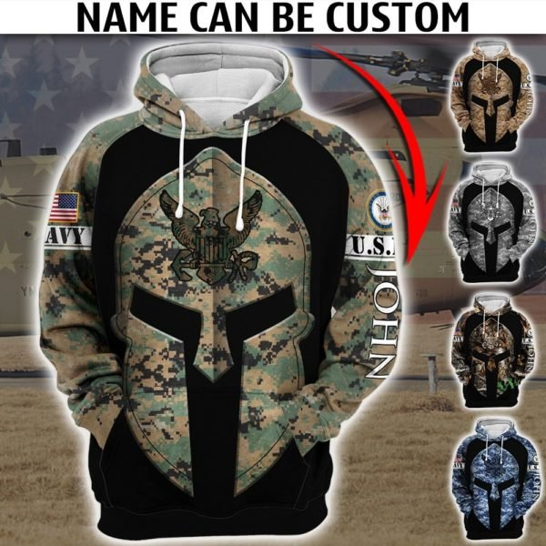Custom united states army camo full printing hoodie 2