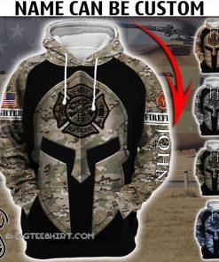 Custom united states firefighter camo full printing shirt