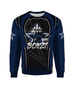 Dallas cowboys we dem boys all over print sweatshirt