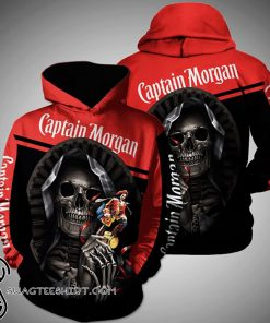 Death skull captain morgan full printing shirt