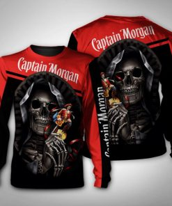 Death skull captain morgan full printing sweatshirt