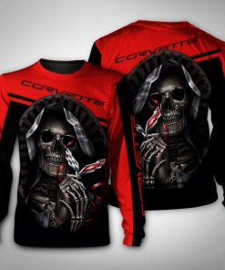 Death skull corvette full printing sweatshirt