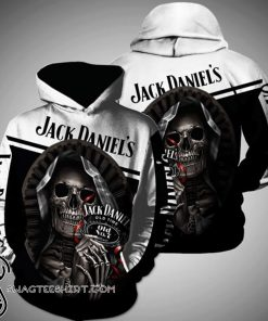 Death skull jack daniel's tennessee whiskey full printing shirt