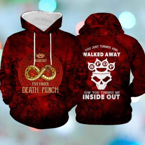 Five finger death punch inside out full printing hoodie