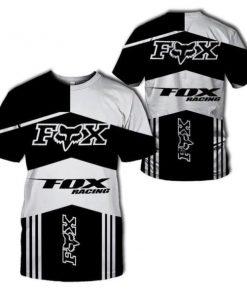 Fox racing fox head logo all over printed tshirt