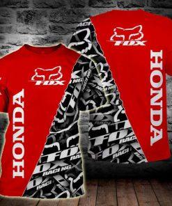 Fox racing honda full printing tshirt