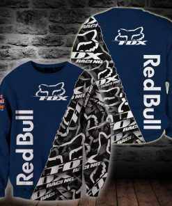 Fox racing red bull full printing sweatshirt