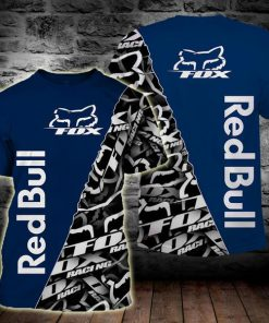 Fox racing red bull full printing tshirt